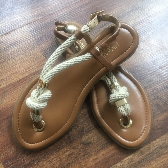 d3effd4debb6 NWOB Michael Kors Gold Holly Rope Sandals. M 5a9835dc9a9455b716d442cb